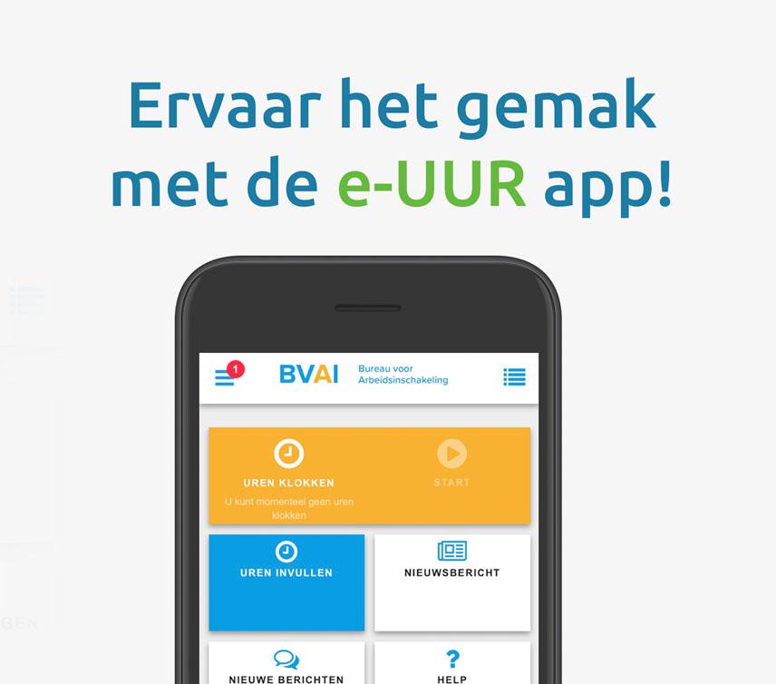 Ervaar het gemak met de e-UUR app!
